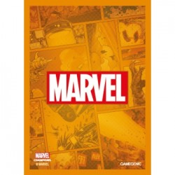 Sachet de 50 protèges carte taille standard Marvel Champions Art Sleeves - Marvel Orange - Gamegenic