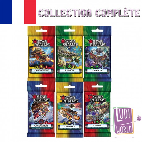 VF Collection Complète 6 Decks Commandement - Star Realms