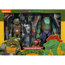 Leather Head and Slash - Pack de 2 Figurines NECA Tortues Ninja