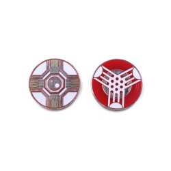 Set de 15 Jetons VIRUS / POWER Token - Android Netrunner - Aurbits