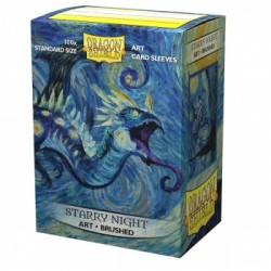 100 Protèges cartes - Starry Night - Brushed Art Sleeves Dragon Shield