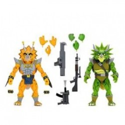 Captain Zarax and Zork - Pack de 2 Figurines NECA Tortues Ninja