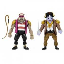 Pirate Rocksteady & Bebop - Pack de 2 Figurines NECA Tortues Ninja