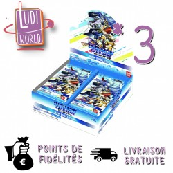 Preco JANVIER 2021 - 3 Boites de 24 Booster Ver1.0 - DIGIMON CARD GAME