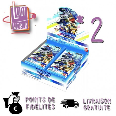 Preco NOV 2020 - 2 Boites de 24 Booster Ver1.0 - DIGIMON CARD GAME