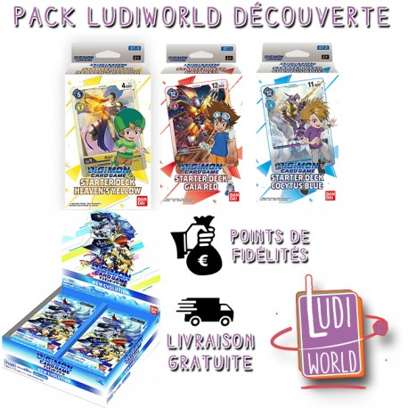 Pack LUDIWORLD DÉCOUVERTE - DIGIMON CARD GAME