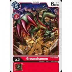 BT1-020 Groundramon Digimon Card Game