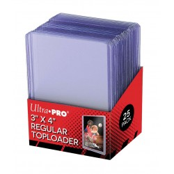 Lot de 25 Toploader Super Clear Ultra Pro