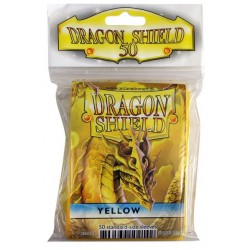 50 Protèges cartes Dragon Shield - Jaune