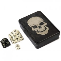 "Tin box de 20 dés ""crâne"" - Skull Dice Tin"