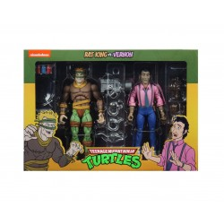 Rat King and Vernon - Pack de 2 Figurines NECA Tortues Ninja