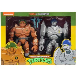 Tragg and Grannitor - Pack de 2 Figurines NECA Tortues Ninja