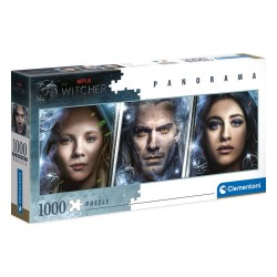 Puzzle 1000 pièces Panorama faces - The Witcher