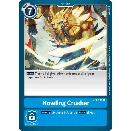 BT1-101 Howling Crusher Digimon Card Game