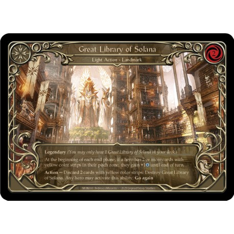 Great Library of Solana Rainbow Foil Flesh And Blood TCG