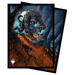 100 Protège-Cartes Magic The Gathering - Innistrad Midnight Hunt - Moonrage Brute