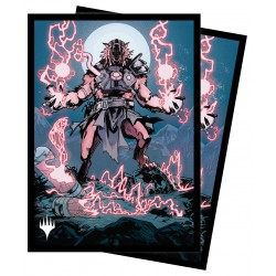 100 Protège-Cartes Magic The Gathering - Innistrad Midnight Hunt - Storm-Charged Slasher