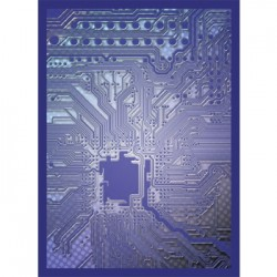 50 Protèges Cartes Legion - Gloss Sleeves - Circuit - Blue