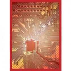 50 Protèges Cartes Legion - Gloss Sleeves - Circuit - Red
