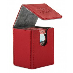 Flip Deck Case Xenoskin 100 Cartes Rouge