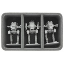 Mousse de Rangement 85mm 3 grandes Cases pour Star Wars Assault sur l'Empire / Imperial Assault