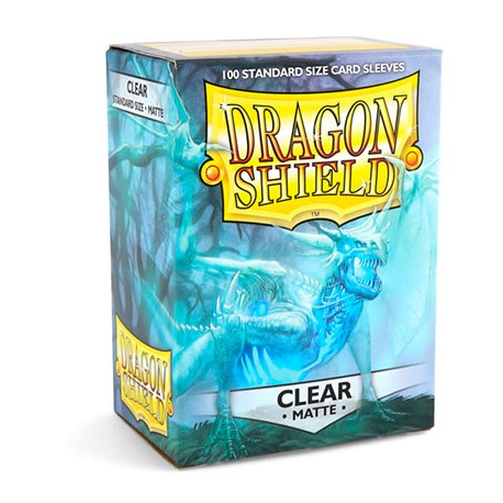 Protèges cartes Dragon Shield - Matte Clear
