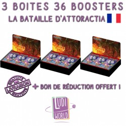 Lot de 3 Boites De 36 Boosters Force Of Will A4 - La Bataille d'Attoractia (FR)