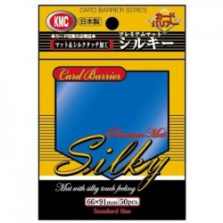 50 Protèges cartes KMC Silky Mat Blue