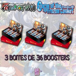 Lot de 3 Boites De 36 Boosters Force Of Will L1 - La Malédiction du Cercueil de Glace (FR)