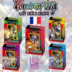Lot des 5 decks Français 2016 Force of Will.